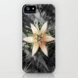 BW flower iPhone Case