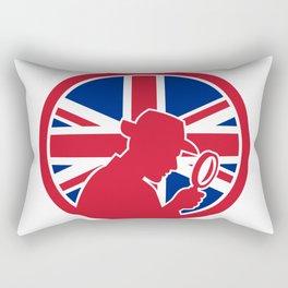 British Private Investigator Union Jack Flag Icon Rectangular Pillow
