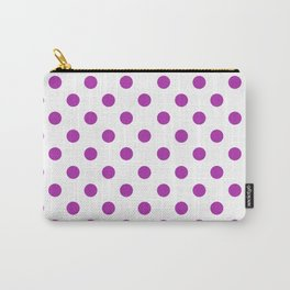 Polka Dots (Purple & White Pattern) Carry-All Pouch