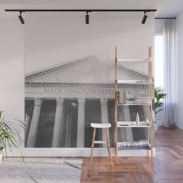 The Pantheon, fine art print, black & white photo, Rome photography, Italy lover, Roman history Wall Mural