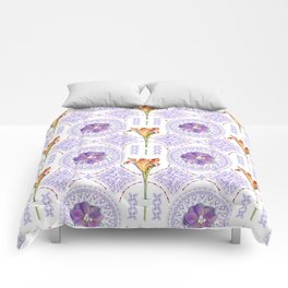 Gothic Revival Daylily Lace Comforters