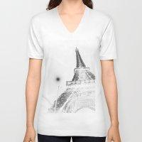 eiffel V-neck T-shirts featuring Eiffel by Envibe Photography
