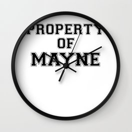 Property of MAYNE Wall Clock