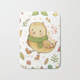 Wise and Awesome Owl Bath Mat
