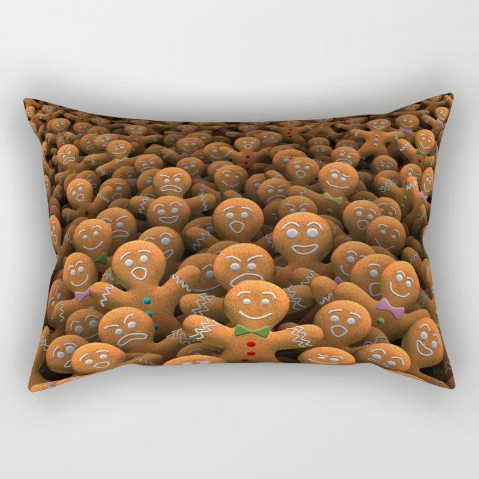 Gingerbread army Rectangular Pillow