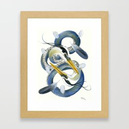 A Couple Of Herons Framed Art Print