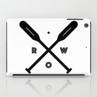 rowing iPad Cases featuring Rowing x Oars by K Michelle