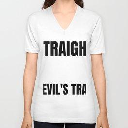 Straight Outta Devil's Tarp Supernatural Crossroad Demon Deal Hellhounds Unisex V-Neck
