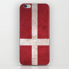 Denmark Flag (Vintage / Distressed) iPhone Skin