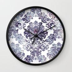 Blueberry Damask Wall Clock