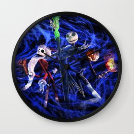 Nightmare Of Shadow Wall Clock