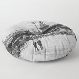 Pensacola, Florida 1900 Floor Pillow