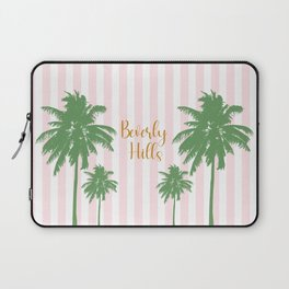Beverly Hills Pink Stripes Laptop Sleeve
