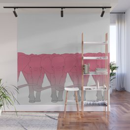 Pink elephant Wall Mural