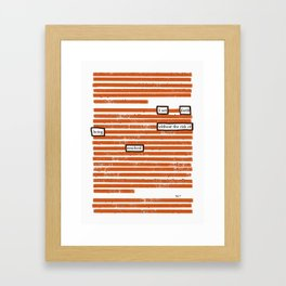 Resolved Framed Art Print