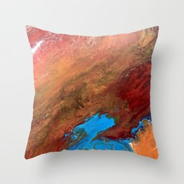 Arizona Agate Slab Throw Pillow