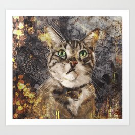 Brian The Cat  Art Print