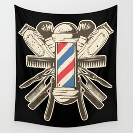 Barber Accessories   Beard Hairdresser Wall Tapestry