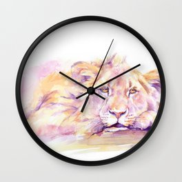 Lion _ Too hot to hunt Wall Clock