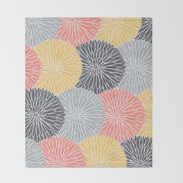 Flower Infusion Throw Blanket