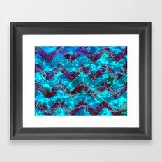 Chevron Waves Framed Art Print