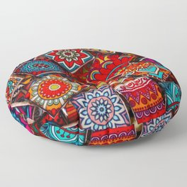 V1 Traditional Moroccan Colored Stones. Floor Pillow