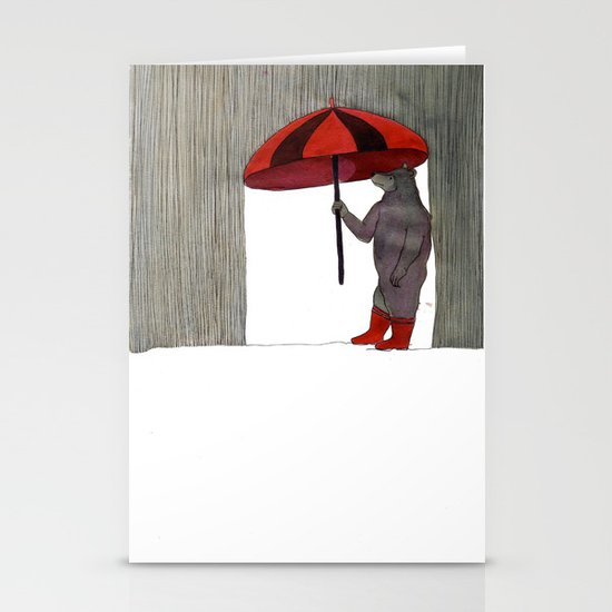 Hard Rain #3 Stationery Cards