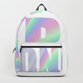 Belong to earth in holographic foil-look Backpack