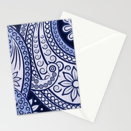 The Cannibal's Blue Paisley Tie Stationery Cards