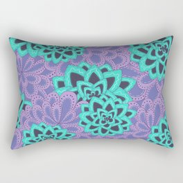 Window Garden Pattern Rectangular Pillow