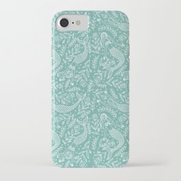 Mermaids and Flowers iPhone Case