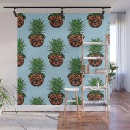 Pineapple English Bulldog Wall Mural