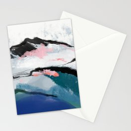 snow mountain Stationery Cards