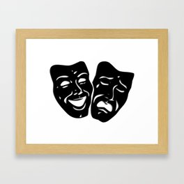 Theater Masks of Comedy and Tragedy Framed Art Print