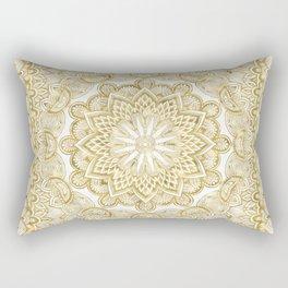 Orient Espresso Pattern Mandala Gold Rectangular Pillow