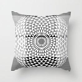 Black White Geometricals With Mandala Throw Pillow
