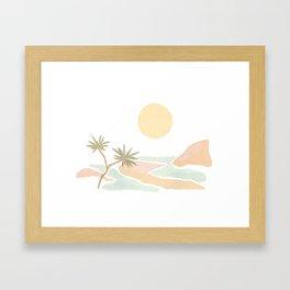 Hidden Beach> Framed Art Print