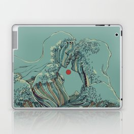 Kissing The Wave Laptop & iPad Skin