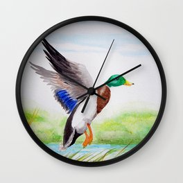Mallad Morning in May Wall Clock