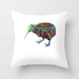 Spalsh Kiwi Bird Throw Pillow