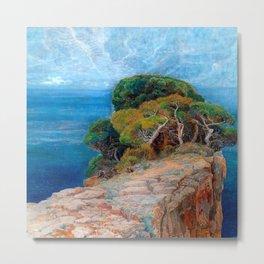 Sea View of Lacroma landscape coastline painting by Emilie Mediz-Pelikan Metal Print