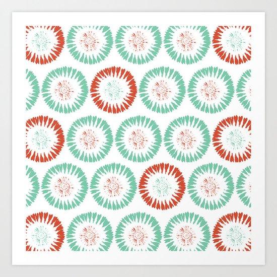 Block Print Circles Art Print