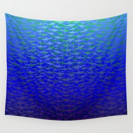 Sharks In Deep Water. Wall Tapestry