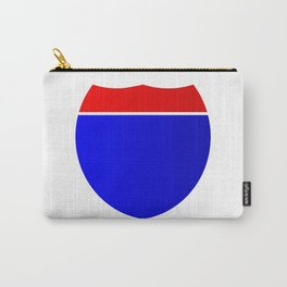 Interstate Sign Abstract Carry-All Pouch