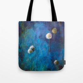Dandelions at dusk Tote Bag