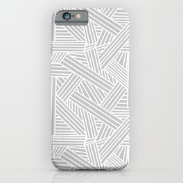 Sketchy Abstract (White & Gray Pattern) iPhone Case