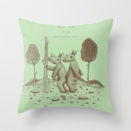 Endangered Love - Rhino Sutra Throw Pillow