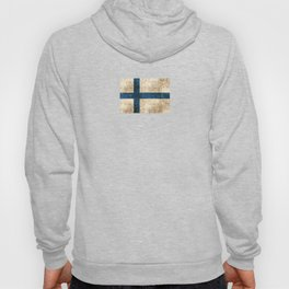 Vintage Aged and Scratched Finnish Flag Hoody