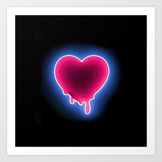 Heart // Neon Art Print
