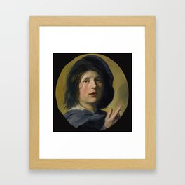 """Frans Hals """"A tronie study of the head and right hand of a boy"""" Framed Art Print"""